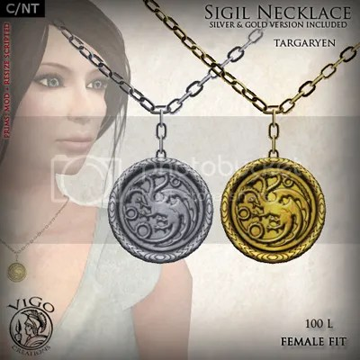 Sigil Necklace Targaryen