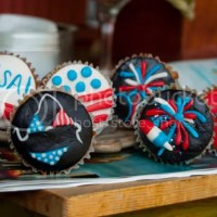 Fireworks Cupcakes