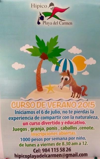 Playa del Carmen Pony Camp 2015
