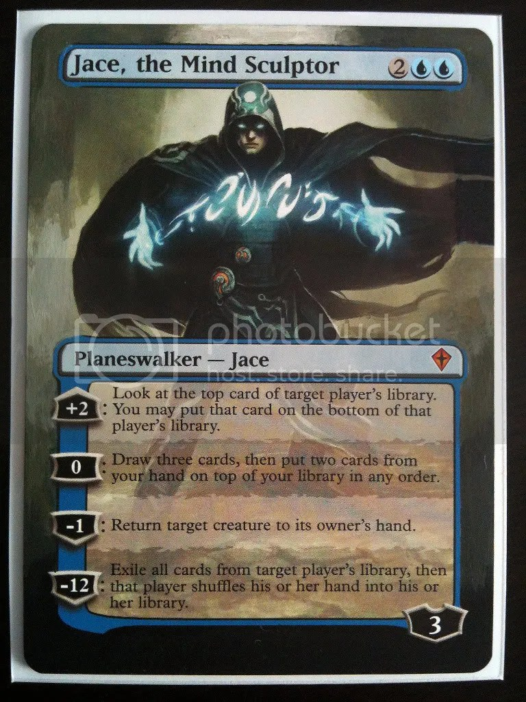 Jace, the Mind Sculptor card alter by Hannah Murray