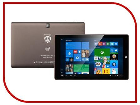 Планшет Prestigio MultiPad Visconte V PMP1012TDRD (Intel Atom Z3735F 1.83 GHz/2048Mb/16Gb/Wi-Fi/Bluetooth/Cam/10.1/1280x800/Windows)