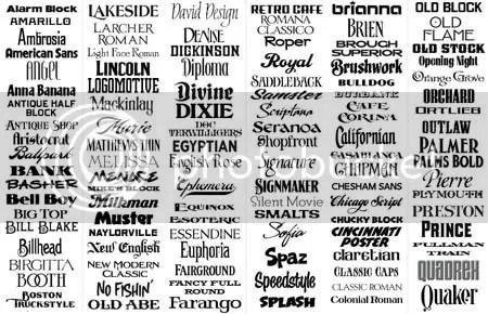 Download Photoshop Tutorials: Letterhead Fonts Pack
