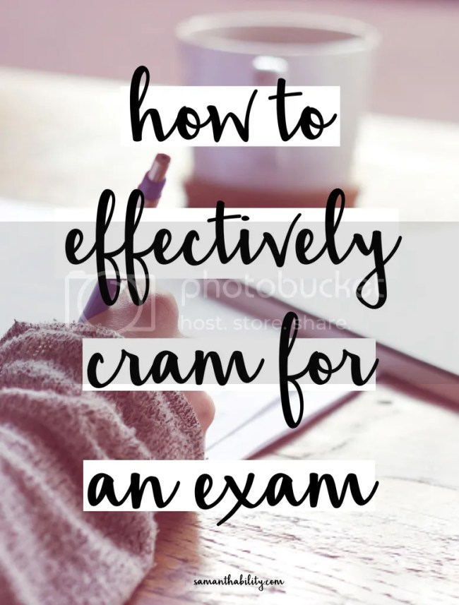 How to cram for an exam
