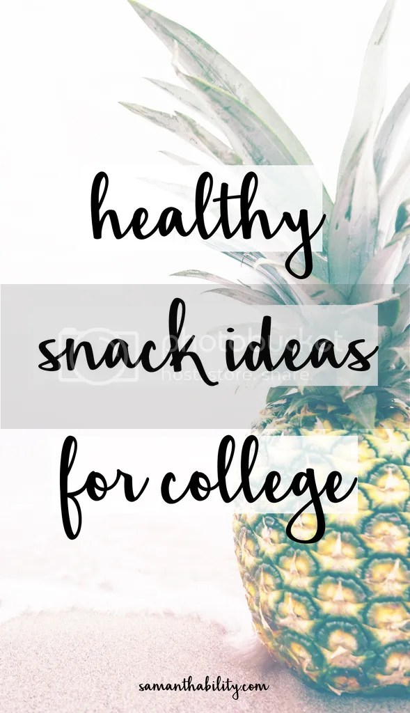 healthy dorm college snacks