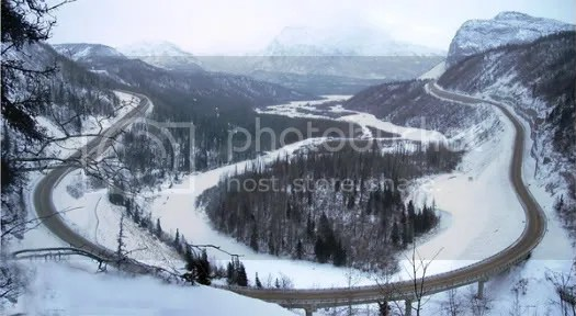 Glenn Highway in the Winter