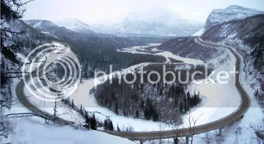Glenn Highway in the Winter