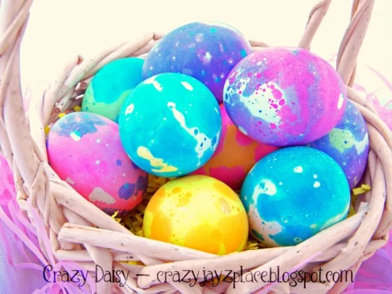 Easy DIY Speckled Eggs