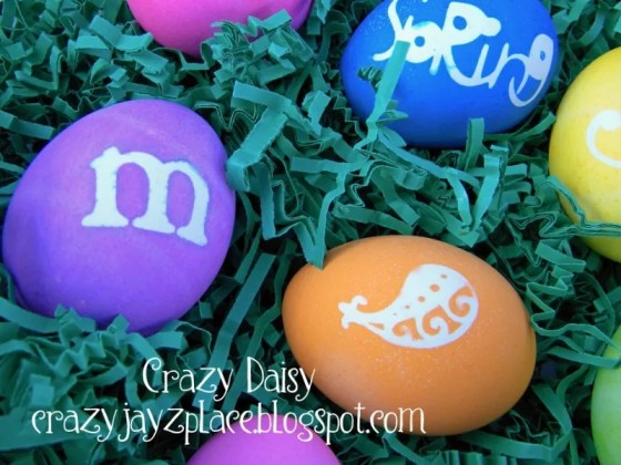 DIY Personalized Vinyl Dyed Easter Eggs