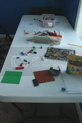 Craft Table For Homeschooling