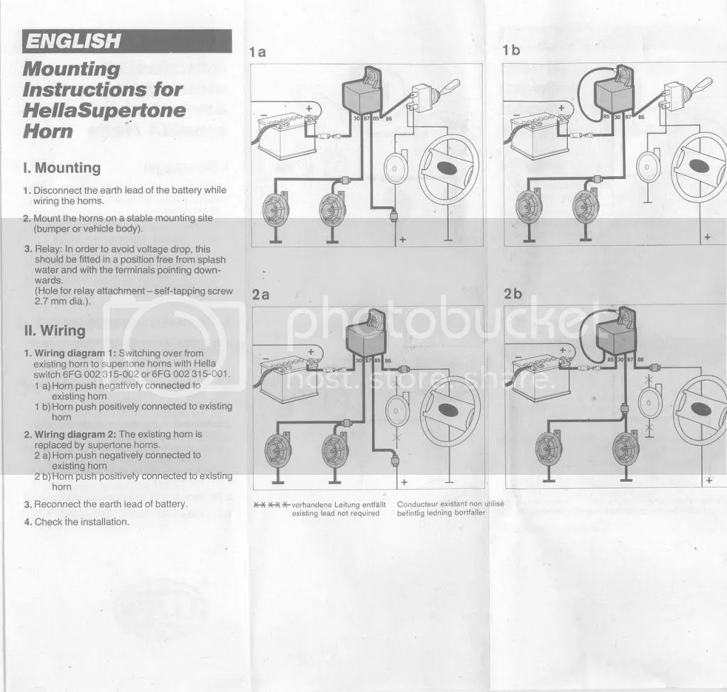 Hella Wiring Harness Instructions