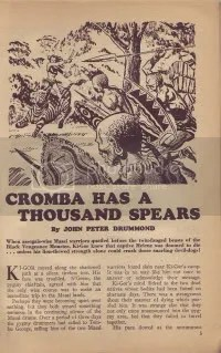 Zomba Has a Thousand Spears (Summer 1948)