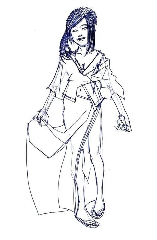 Ayaka Pen Sketch