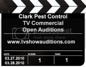 Clark Pest Control TV Commercial Open Auditions