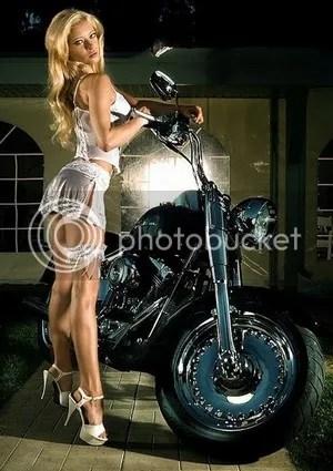 Sexy Female Biker Model