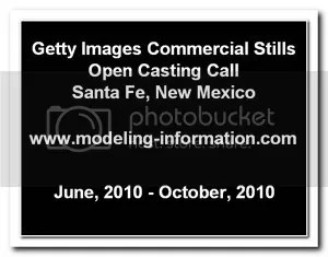 Getty Images Commercial Stills Casting