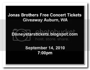 Free Jonas Brothers Tickets Auburn