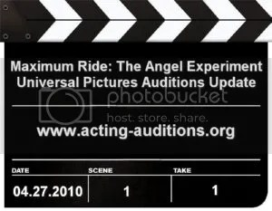 Maximum Ride Auditions Update