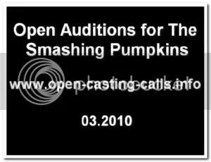 smashing pumpkins auditions