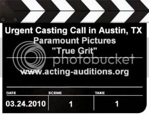 Last True Grit Casting Call