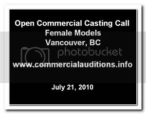 Casting Call Vancouver