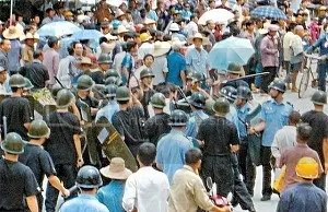Riot in Bobai, Guangxi, China