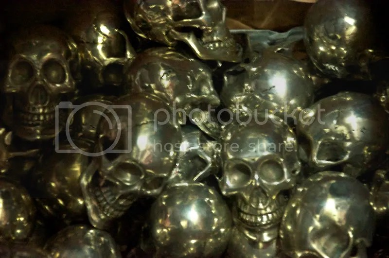 skulls,death,halloween,silver,chrome