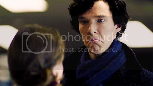 BBC Sherlock Molly frown face The Blind Banker image