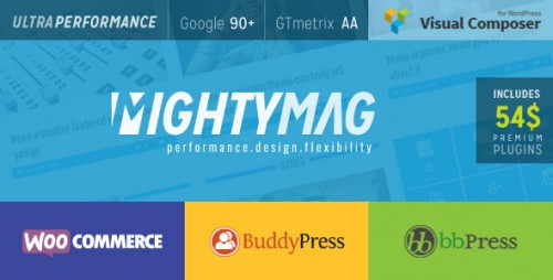 Download Nulled MightyMag v2.1 - Magazine, Shop, Community WP Theme product picture