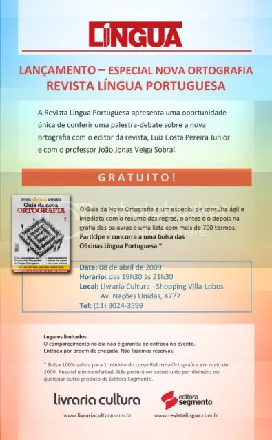nova reforma ortográfica da língua portuguesa