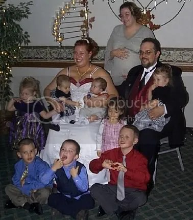 Mr. and Mrs. Bulin with nieces and nephews