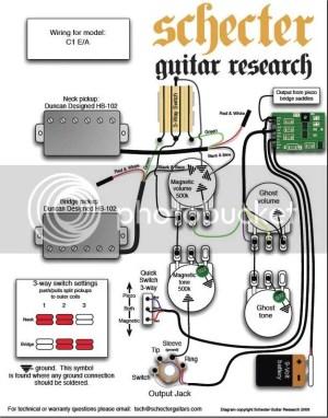 Schecter C1 EA Wiring Diagram | Harmony Central