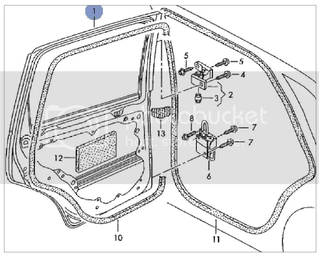 9n3 Passenger Side Rear Door Diagram