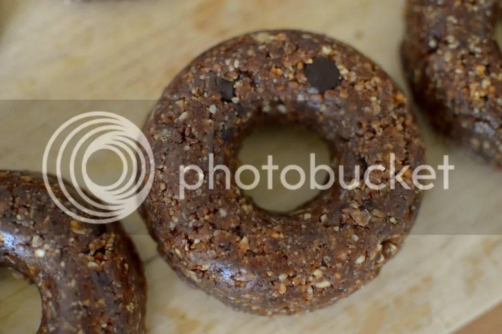 Raw vegan peanut butter cup doughnuts