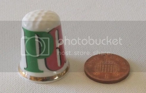 PG TIPS TEA NEEDLEWORK SEW THIMBLE ENGLISH BONE CHINA photo pgtipsthimble2-1.jpg