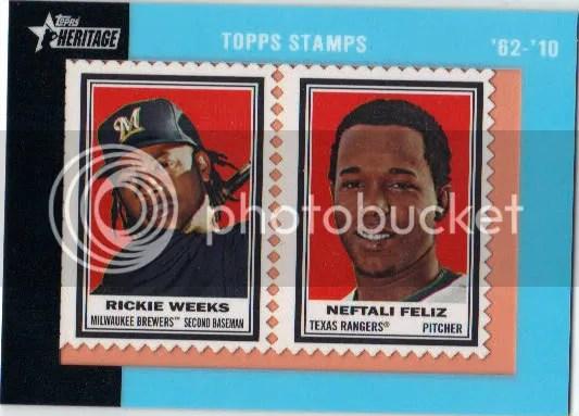 Rickie Weeks Neftali Feliz Heritage Stamp