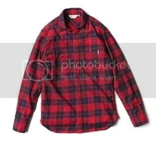 The Outpost - Morgan - Cotton Flannel Twill - Red Navy Check - 160[9]