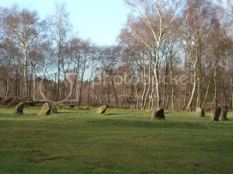Nine Ladies Stone Circle at Stanton Moor