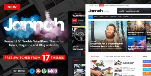 Jannah v1.1.1 - WordPress News Magazine Blog & BuddyPress pic