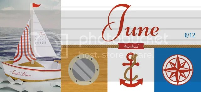 Printable sailboat calendar