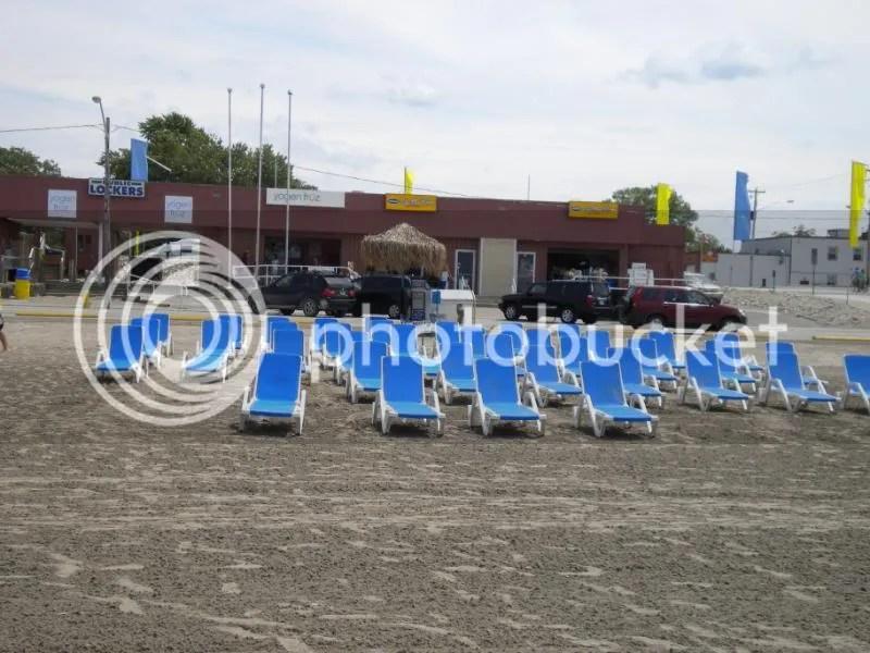 deck chairs, Wasaga Beach