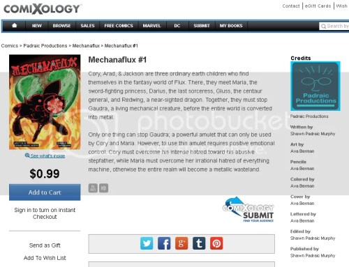 Mechanaflux #1 Now On Comixology