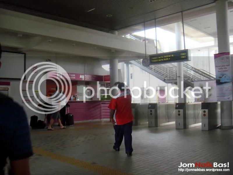 Ticketing counter at Salak Tinggi Station.