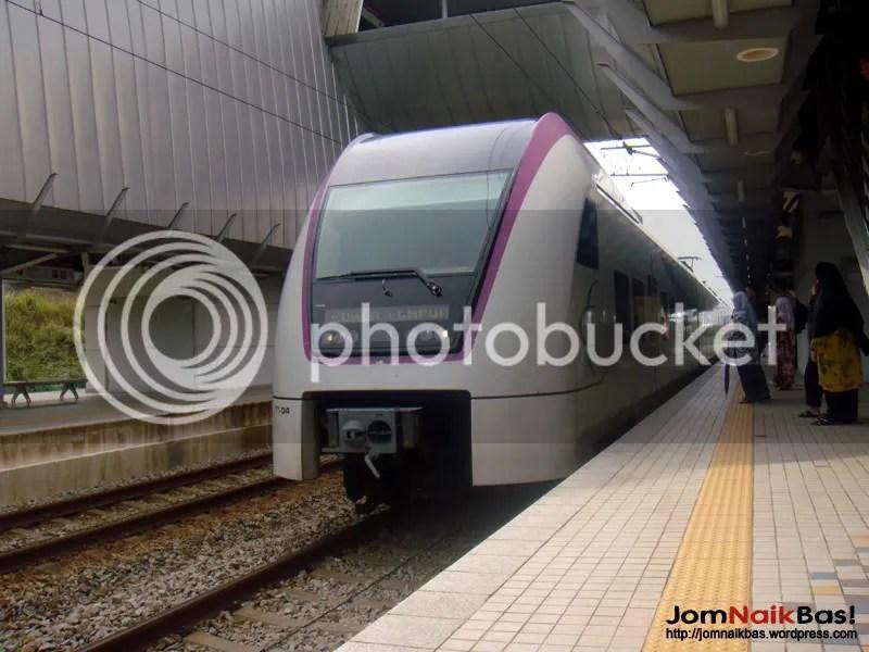 KLIA Transit to KL Sentral arrives.