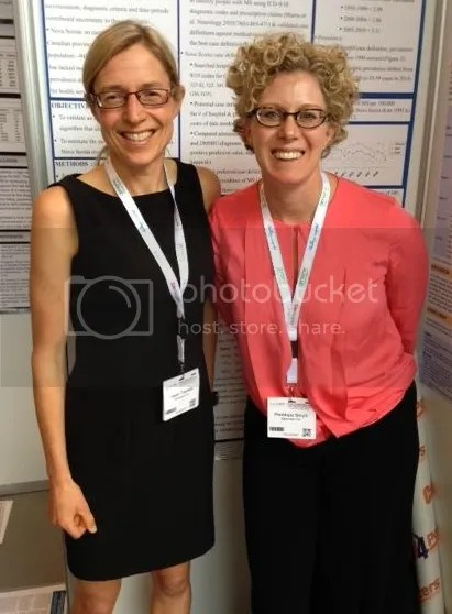 Dr. Helen Tremlett is pictured here (left) with Dr. Penelope Smyth from Calgary, Alberta