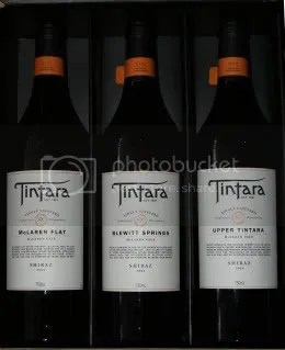 Tintara 2004 SV Shiraz 3 Bottle Set