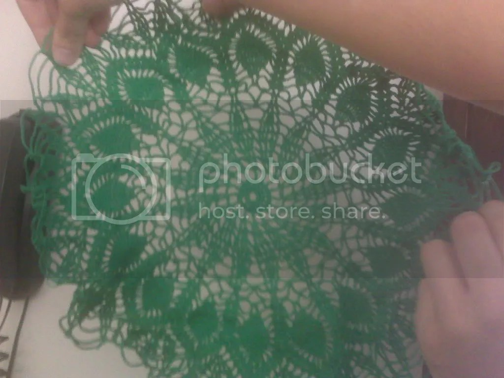 Doily before starching