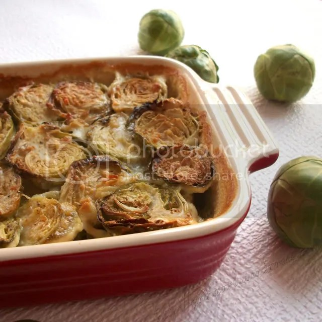 Brussels Sprouts Au Gratin And Green Vegetable Soup