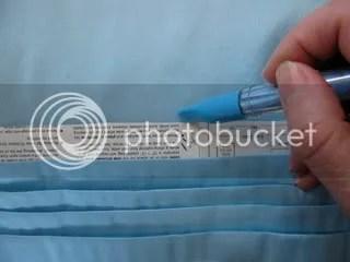 Marking the foldline
