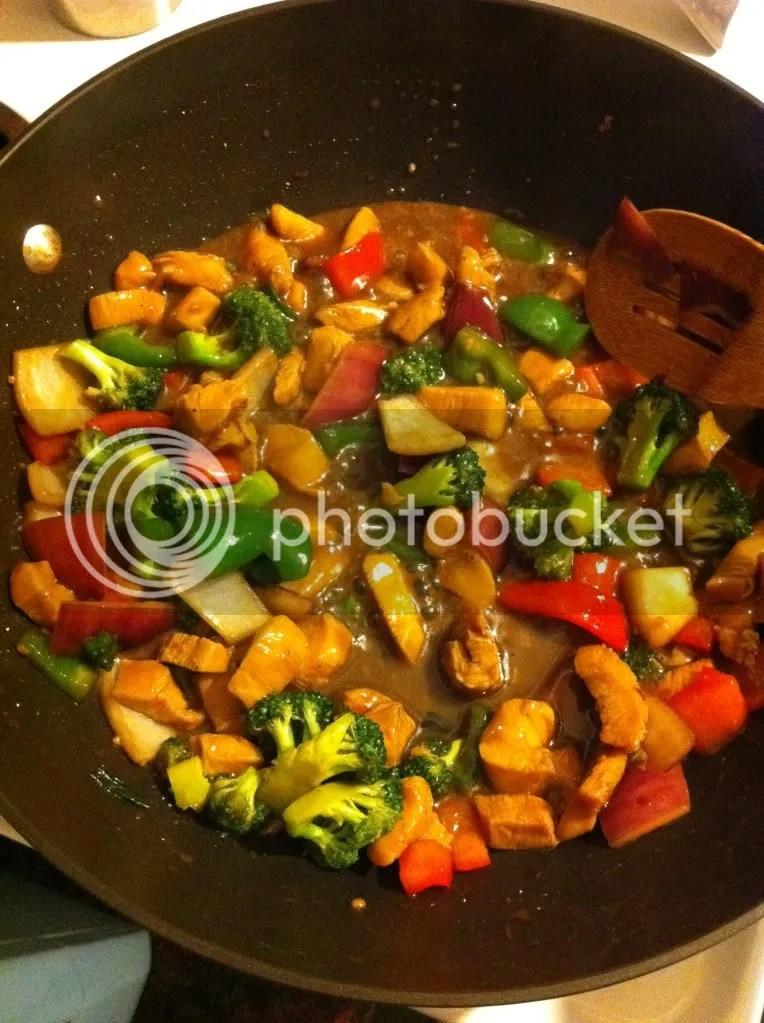 Stir-Fry Chicken with Garlic Sauce