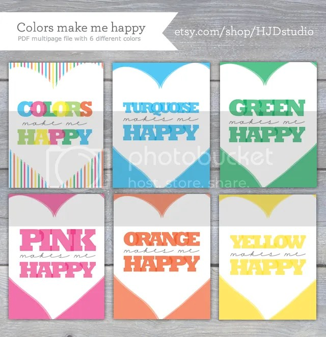 How joyful blog printable colors make me happy for What is a color that makes you happy